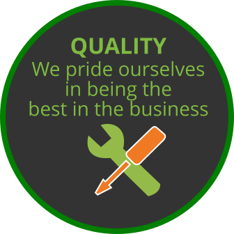 We pride ourselves in being the best in the business  QUALITY